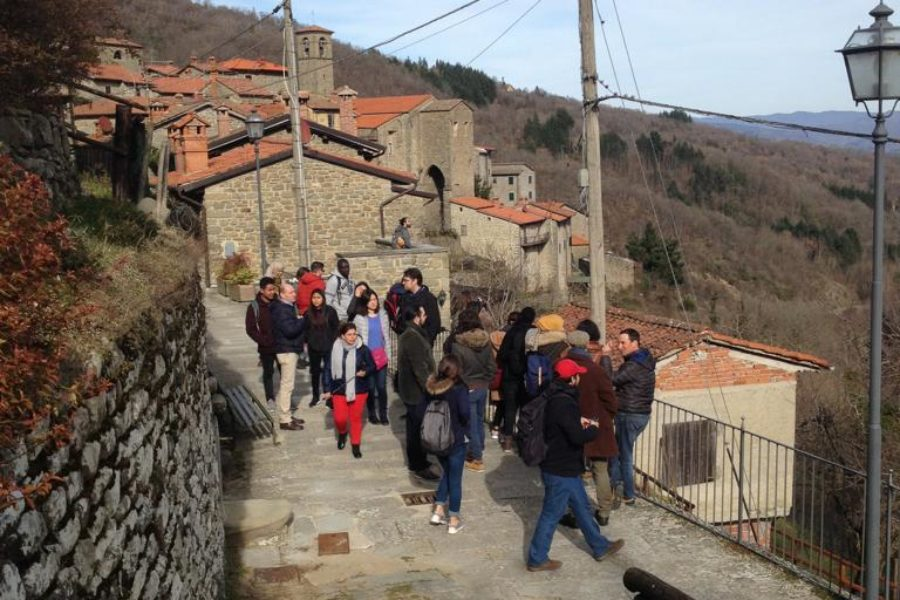 Students of the Master in Agricultural Heritage Systems visit the Ecomuseo della Castagna, in the municipality of Ortignano Raggiolo